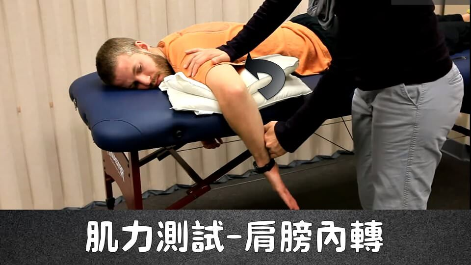 肩膀內轉(MMT – Shoulder internal Rotational) – 徒手肌力測試
