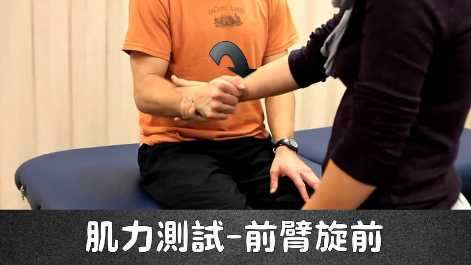 前臂旋前(MMT – Forearm Pronation) – 徒手肌力測試